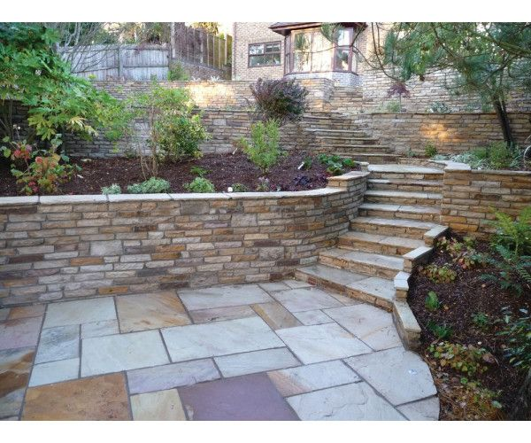 Golden Fossil Cottagestone Walling