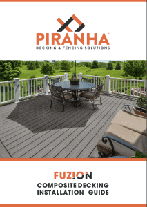 Piranha Fuzion Decking Installation Guide